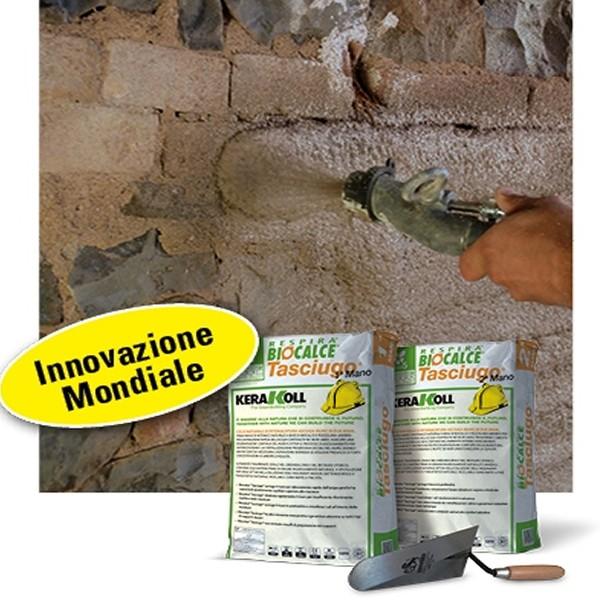 Biocalce tasciugo 2 mano kerakoll intonaco deumidificante - Prezzo intonaco esterno ...