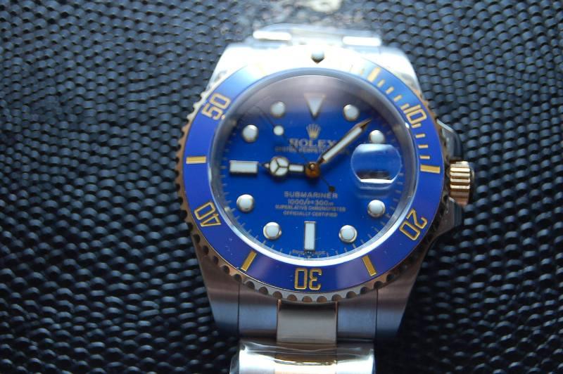 129) Rolex Submariner 2 tone! - BLUE!! Ceramic bezel insert