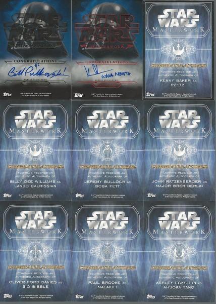 SW Masterworks Break - Blowout Cards Forums