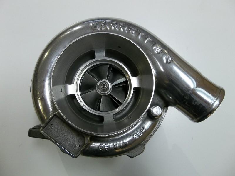 NV Polished Garrett GT3076R Turbo  82AR Twin Scroll V-Band