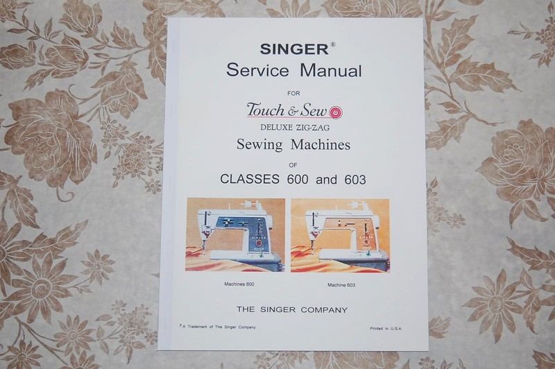 Complete service manual cd for singer 600 600e 603 603e sewing.