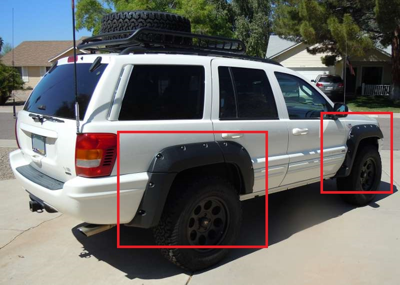 Jeep Grand Cherokee Wj 1999 2004 Wheel Arch Fender Flares