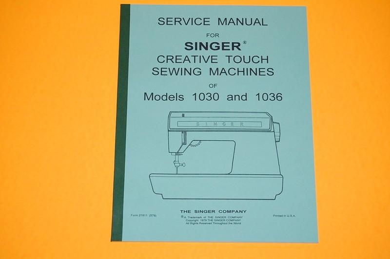 Service Manual on CD: Time Adjust and Repair Singer 1030 ...