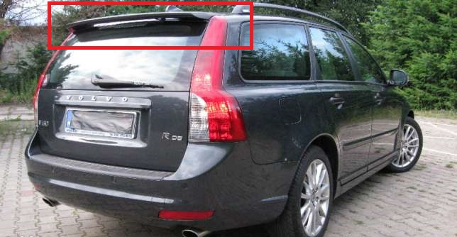 Brand New! Volvo V50 Rear Boot Tailgate Roof Spoiler//Trunk Wing 2004-2012