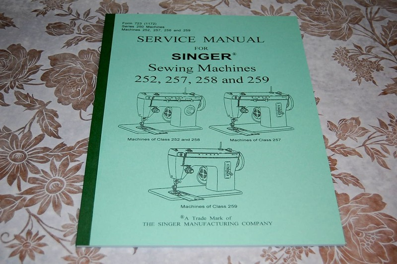Details about Service Manual on CD in PDF Format for Singer Sewing Machines  252, 257, 258, 259