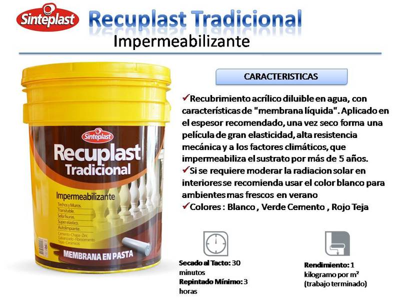 recuplast tradicional