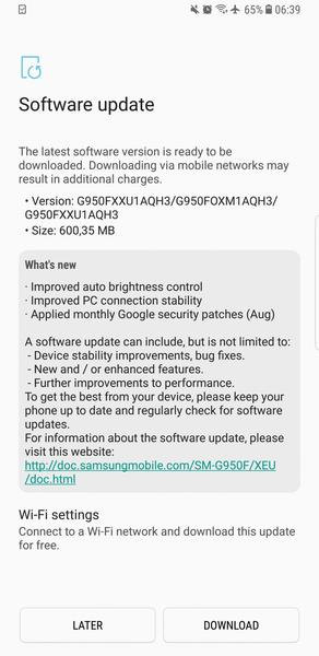 Firmware-update G950FXXU1AQH3 (NL - PHN)(Android 7 0
