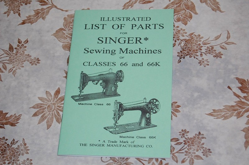 Illustrated Parts Manual Service Singer Sewing Machines Of Classes