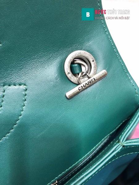 Túi Xách Chanel Trendy CC siêu cấp size 25cm màu xanh