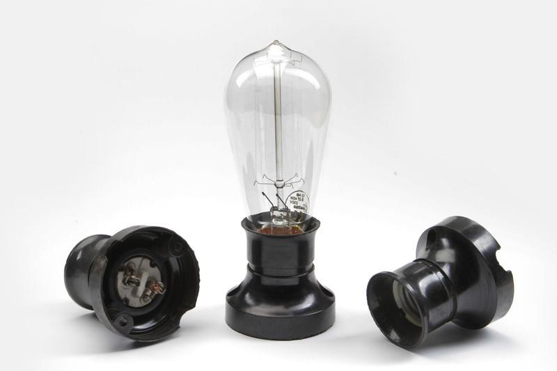 LOFT  DDR Bakelit Fassung E27 Wand Wandlampe