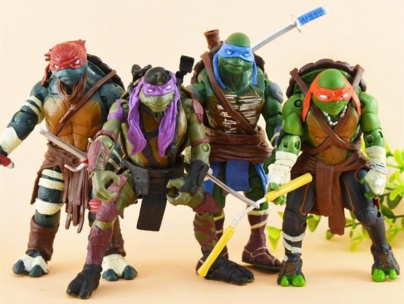 Teenage Mutant Ninja Turtles 4 piece/set | 12 cm Action