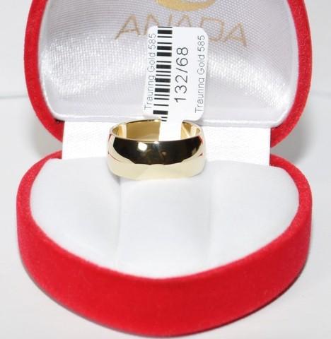 4-10mm Konkav B 1 Paar Gold 585 Trauringe Hochzeitsringe Hochglanzpoliert