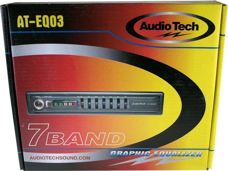 Audiotek Car Audio Passive Equalizer 7 Band 1 2 Din Pre