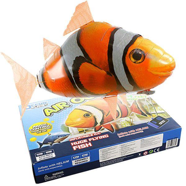 squalo volante radiocomandato rc gonfiabile giocattolo