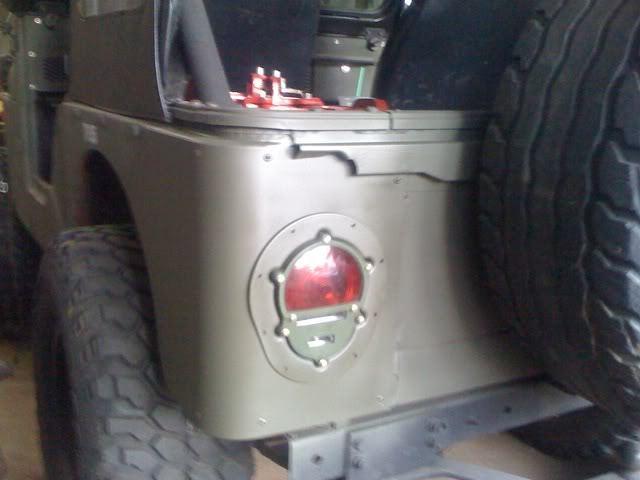 Jeep Military Tail Light Conversion Kit Flush Mount