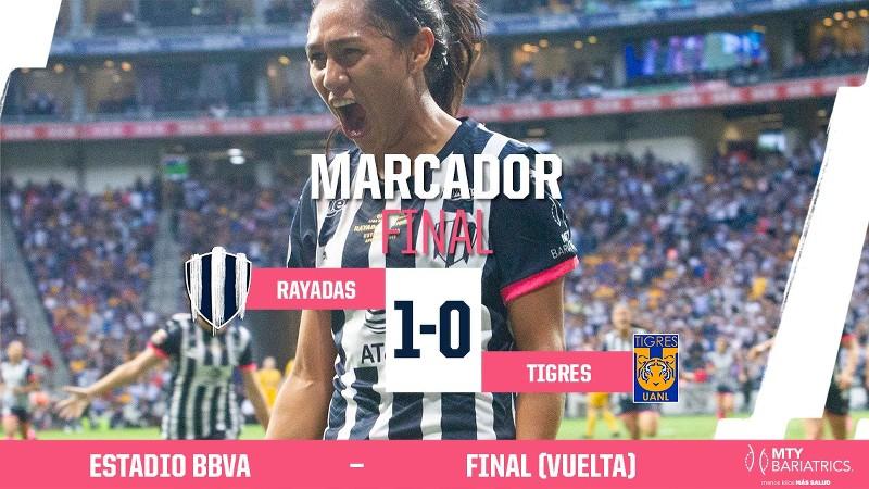 Rayadas campeonas en su estadio, con su gente y ante Tigres!