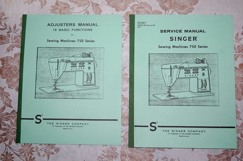 Singer 750 755 756 758 Instruction Manuals or Service /& Parts books on CD PDF