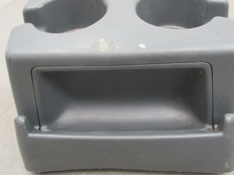 92 96 ford f150 f250 f350 bronco bench seat center console dual cupholder gray d ebay. Black Bedroom Furniture Sets. Home Design Ideas