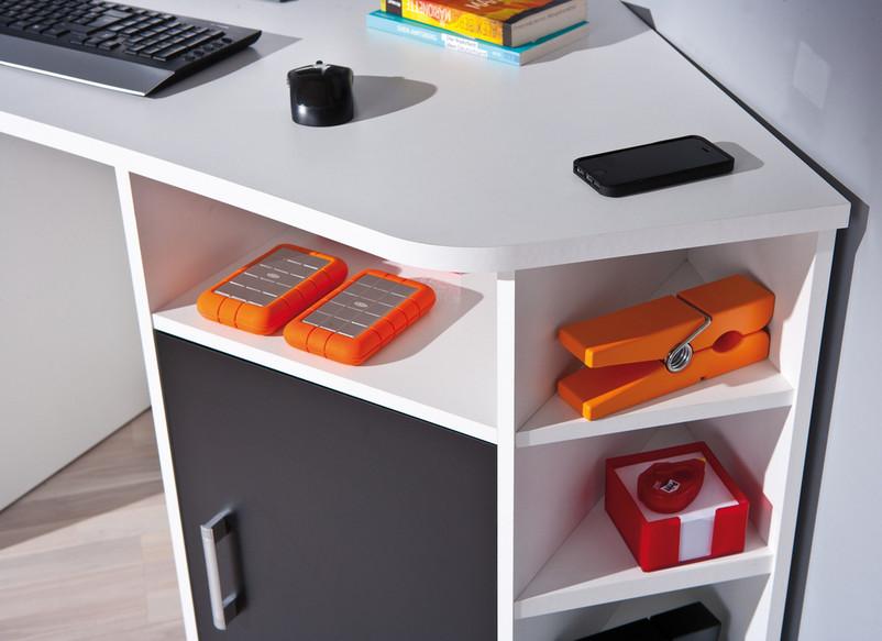 Scrivania Ufficio Angolo : Scrivania moderna corner mobile ufficio ad angolo in due colori di