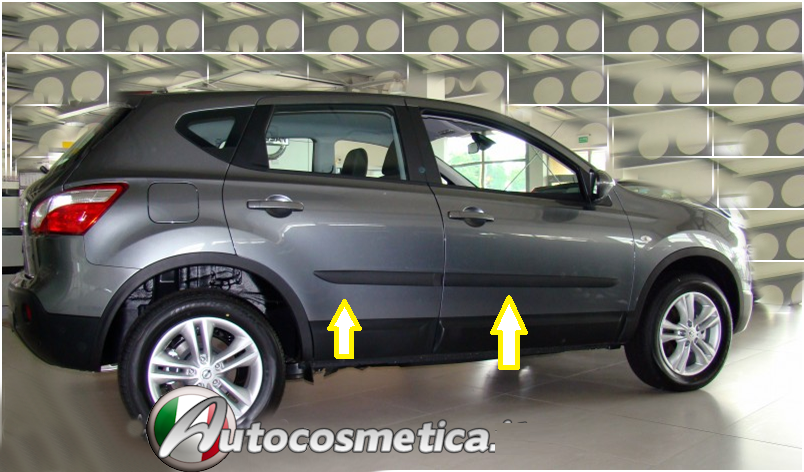 Modanature per Nissan Qashqai Nissan 14-19 protezioni porte acciaio cromo