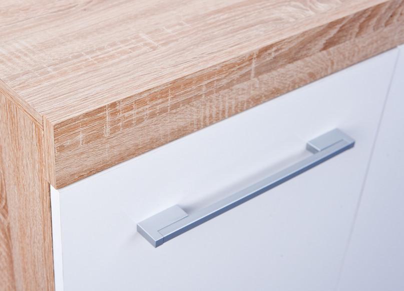 Credenza Da Corridoio : Credenza moderna sara mobiletto bianco e rovere di design
