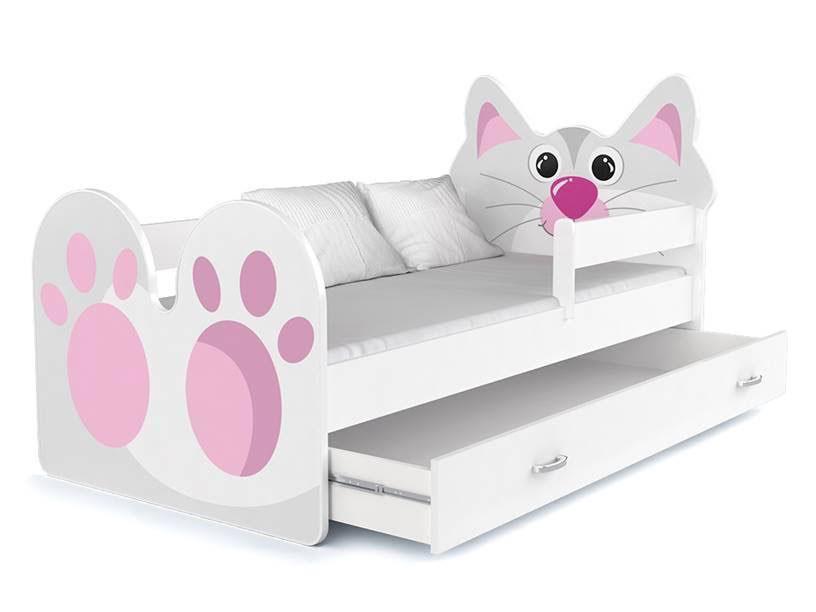 babybett kinderbett autobett 160x80 mit schublade und. Black Bedroom Furniture Sets. Home Design Ideas