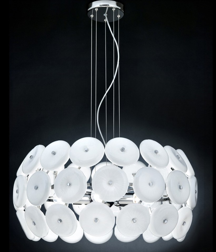 Star Ø 65 lampadario moderno lampada sospensione moderna bianco ...