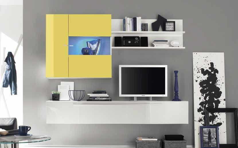 Parete Attrezzata Mobile soggiorno Lux in 10 colori, sala ...