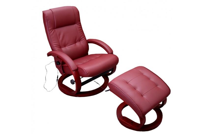 massagesessel mit hocker bordeaux kunstleder relaxsessel fernsehsessel modern berlin. Black Bedroom Furniture Sets. Home Design Ideas