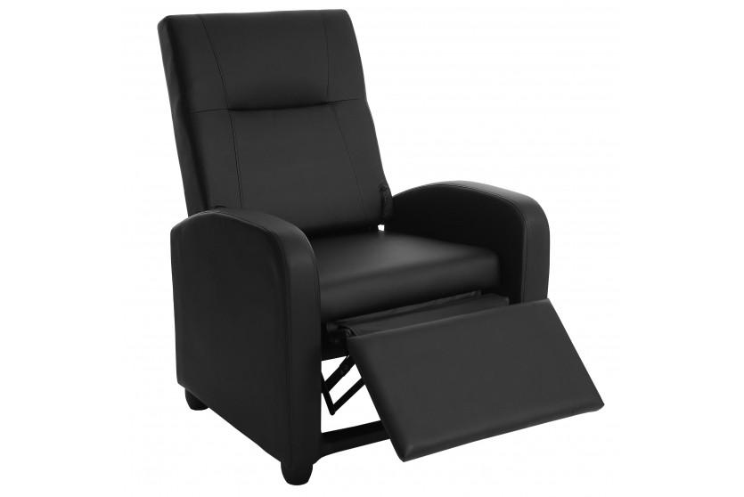 relaxsessel schwarz kunstleder fernsehsessel sessel klappbar verstellbar lounge berlin. Black Bedroom Furniture Sets. Home Design Ideas