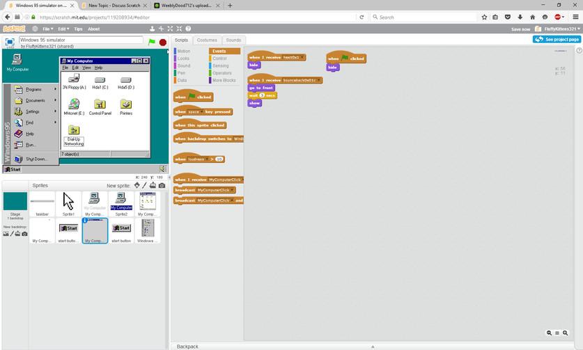 Realistic Windows 95 simulator (not a joke) - Discuss Scratch