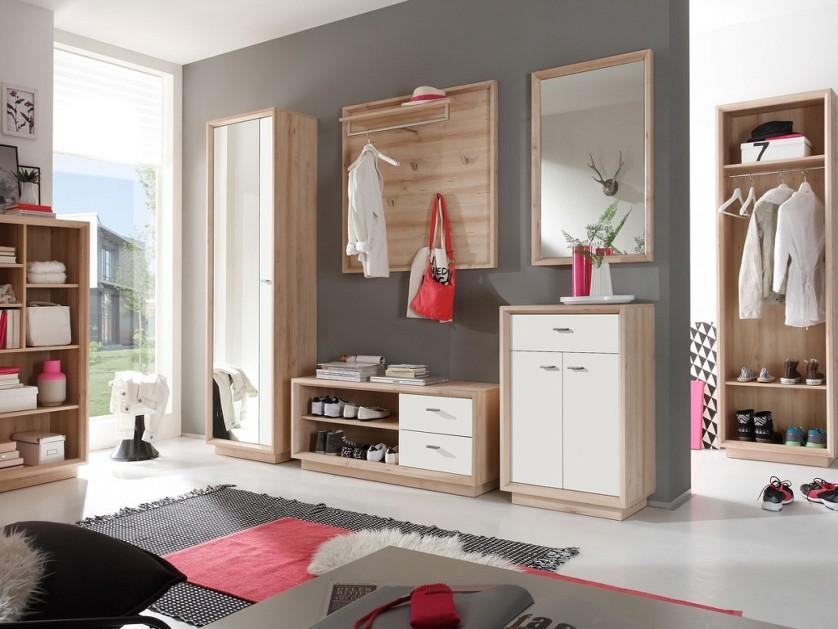 ... , mobile soggiorno, ingresso, scarpiera design faggio e bianco  eBay