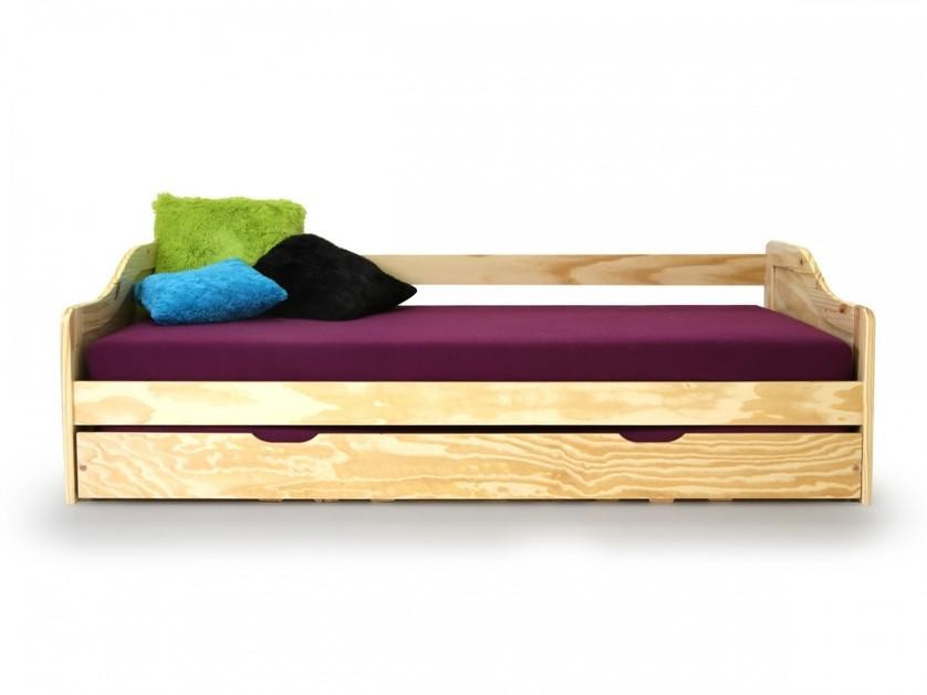 Letto singolo moderno pablo in pino o bianco una piazza con letto estraibile ebay - Letto estraibile moderno ...