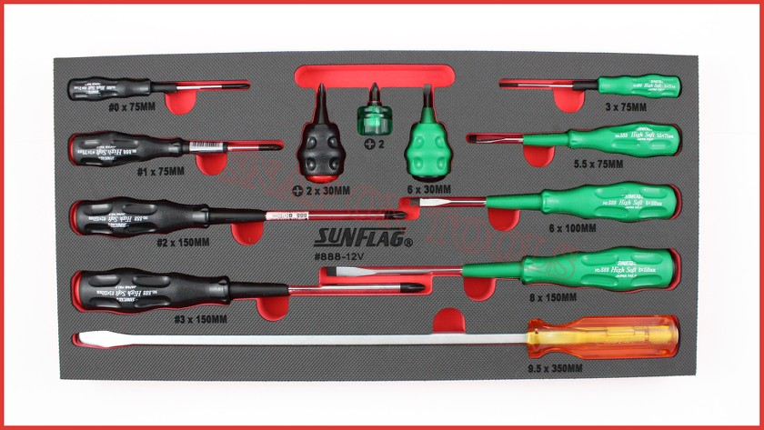 sunflag 12pc master screwdriver set made in japan trade quality best there is ebay. Black Bedroom Furniture Sets. Home Design Ideas