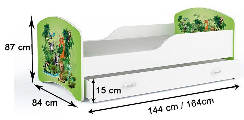 kinderbett 160x80 bett mit einer schublade und matratze. Black Bedroom Furniture Sets. Home Design Ideas