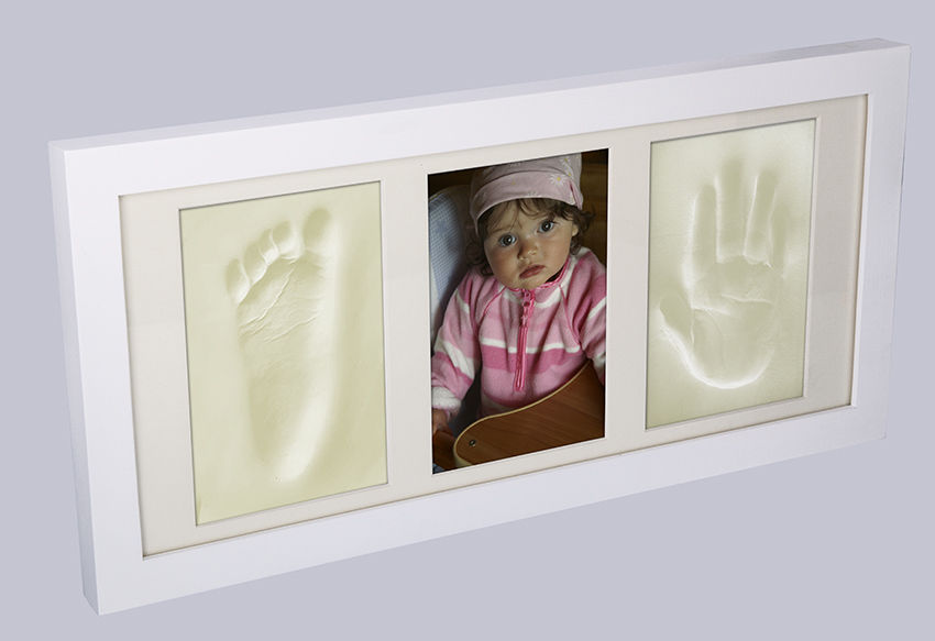 Made In EU Memories Factory © Baby Picture Frame Foot /& Hand Clay Casting Kit
