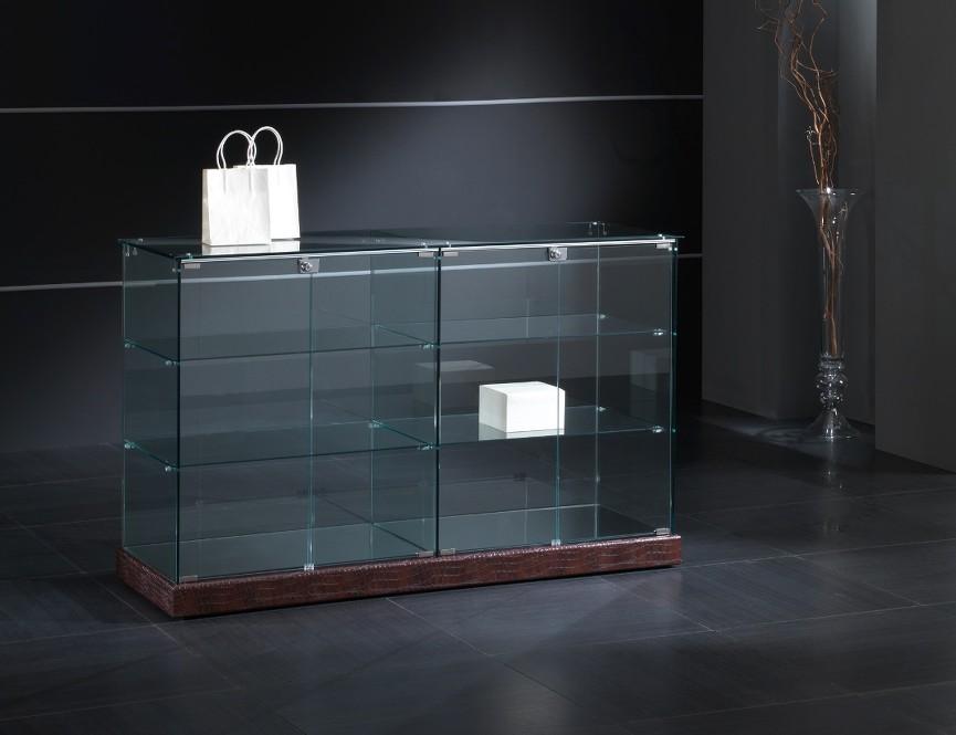 Vetrine vetrinetta showcase banco espositore arredo for Vetrine in cristallo arredamento