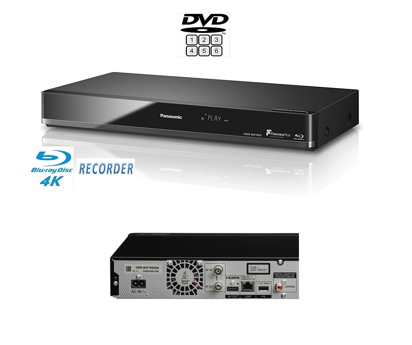 panasonic multiregion dmr bwt850 3d 4k smart blu ray hd recorder 1tb hdd wifi 784672480840 ebay. Black Bedroom Furniture Sets. Home Design Ideas