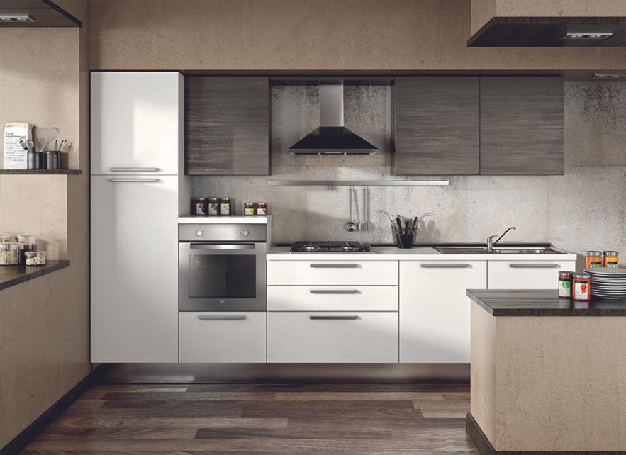 Cucina modello Emily, composizione per cucina moderna modelli dalla ...