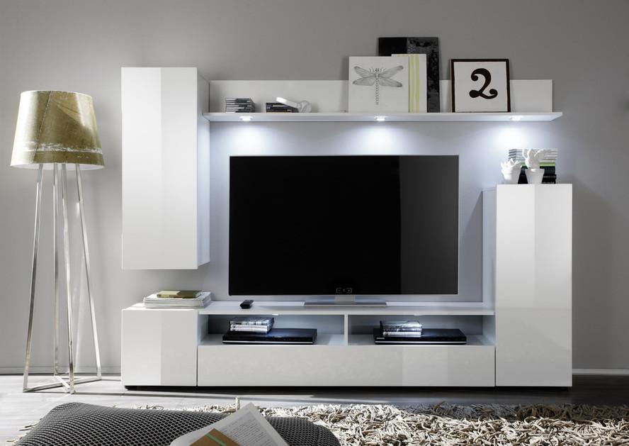 Soggiorno moderno teseo composizione mobile porta tv con - Parete tv moderna ...