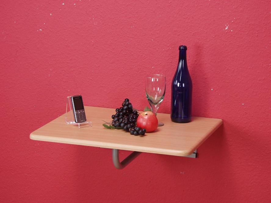 wandtisch abklappbar buche telefontisch tisch platte wand stahlrohr klappbar neu ebay. Black Bedroom Furniture Sets. Home Design Ideas