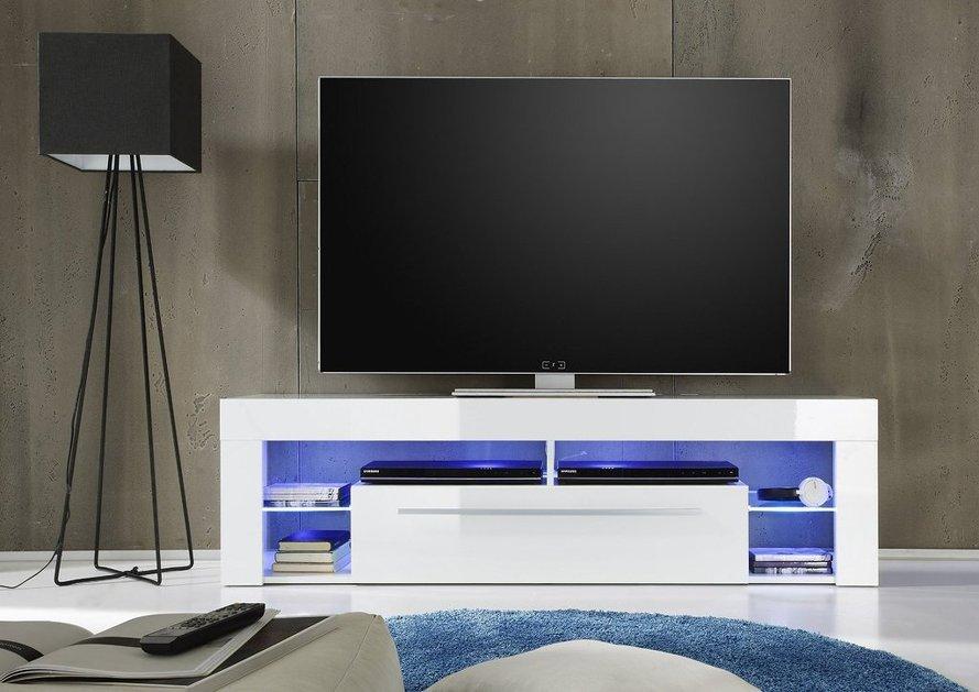 Porta tv moderno Even, mobile soggiorno bianco, 4 varianti ...