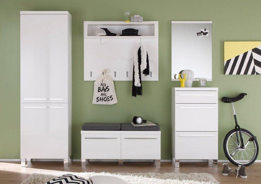 Ingresso moderno today entrata bianca con appendiabiti specchio e guardaroba - Specchio ingresso moderno ...