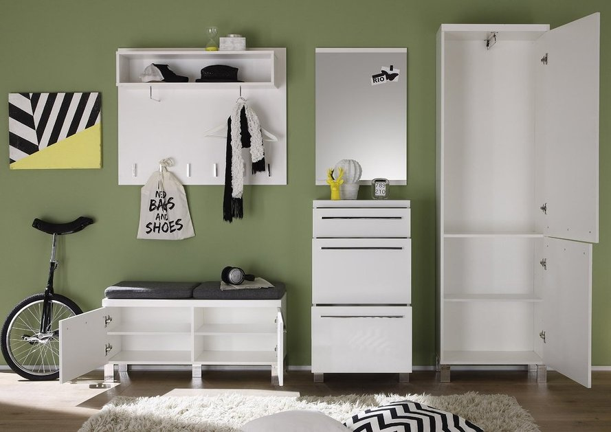Ingresso moderno today entrata bianca con appendiabiti specchio e guardaroba - Ikea mobili entrata ...