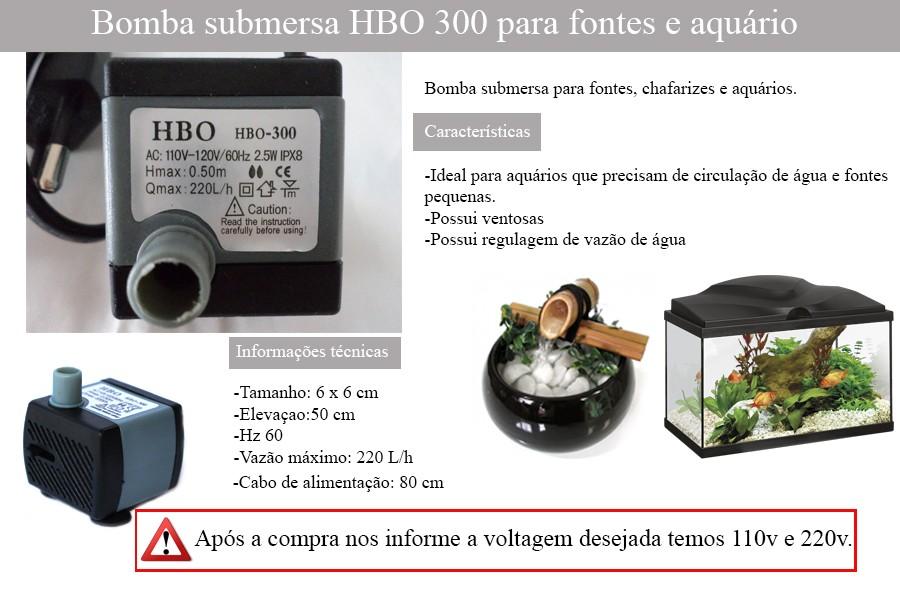 Bomba Motor Submersa Luz Fonte Água Aquário Bombinha