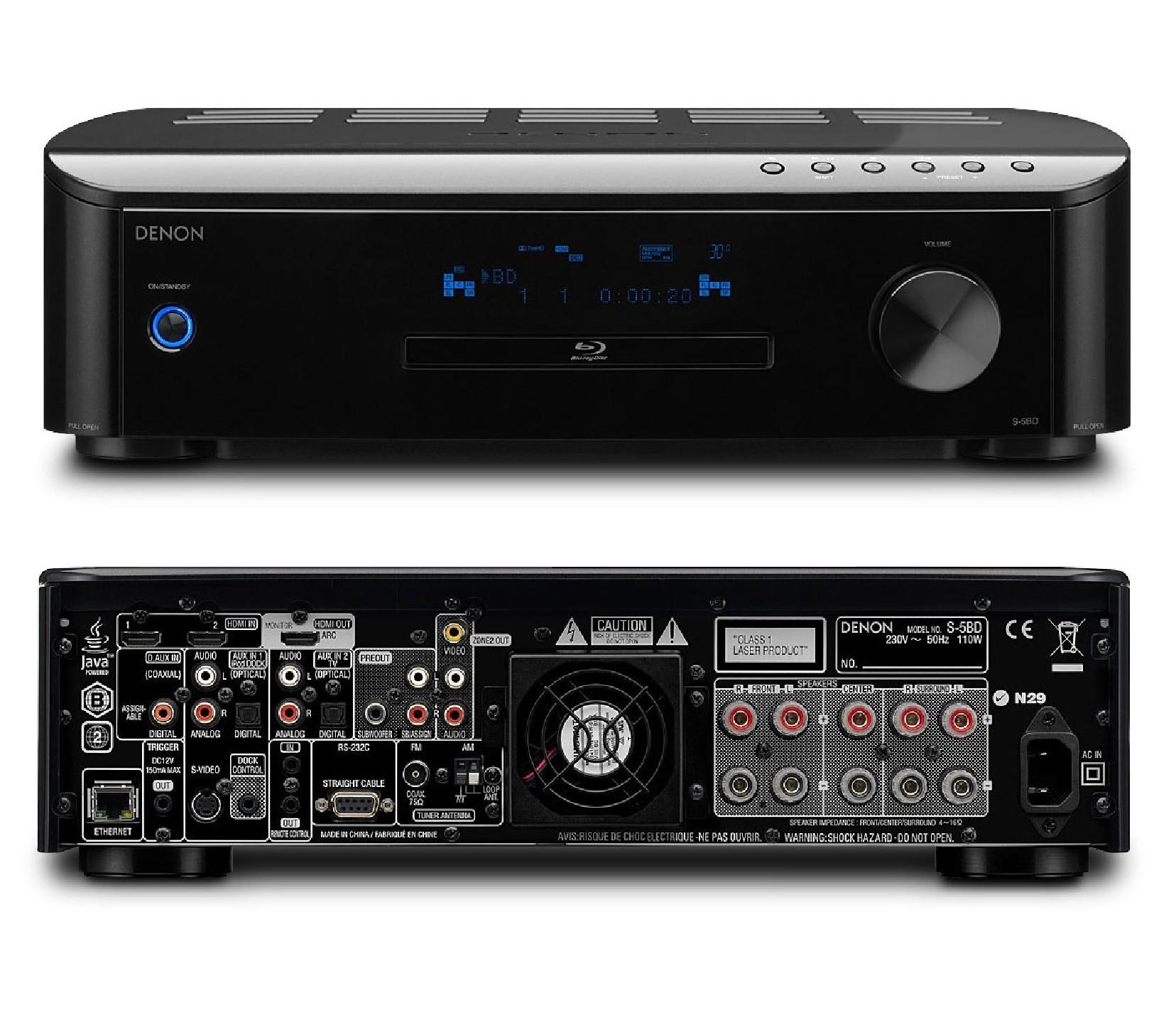 denon cara s 5bd 5 1 home cinema aio blu ray player receiver amplifier 3hdmi usb ebay. Black Bedroom Furniture Sets. Home Design Ideas