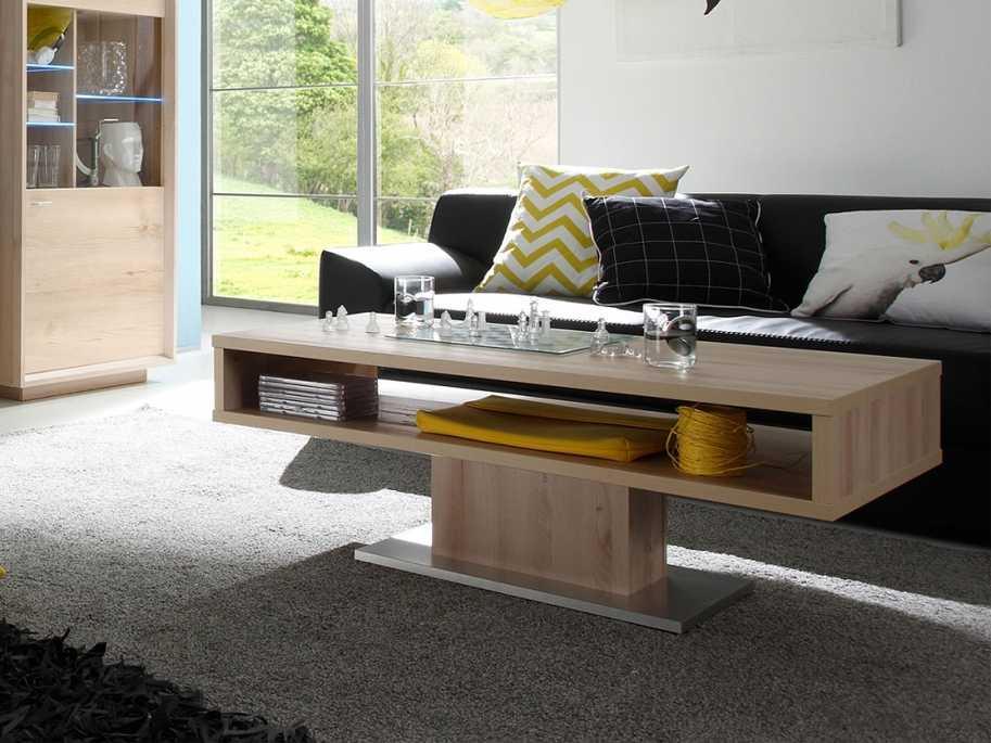 Tavolino tavolo salotto moderno borg faggio e inox cm 110x60 ...