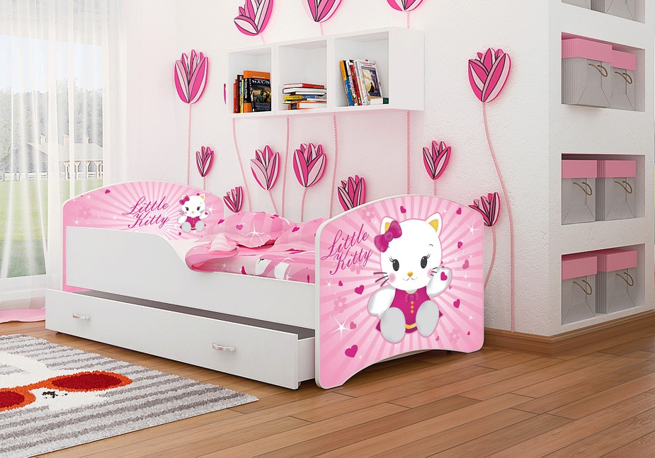kinderbett 160x80 cm oder 140x80 cm mit matratze bettkasten lattenrost babybett ebay. Black Bedroom Furniture Sets. Home Design Ideas