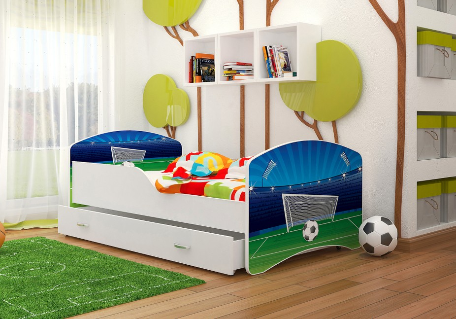 kinderbett 160x80 cm oder 140x80 cm mit matratze bettkasten lattenrost babybett ebay. Black Bedroom Furniture Sets. Home Design Ideas
