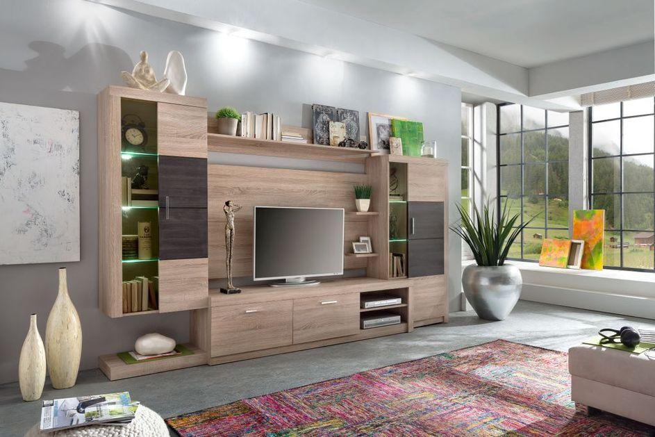 Soggiorno moderno baku, composizione mobile porta tv con led ...